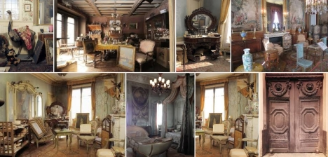 Marthe de Florian's apartment in 2010 after it was discovered untouched for 70 years